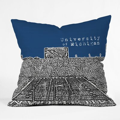 Bird Ave University of Michigan Woven Polyester Throw Pillow