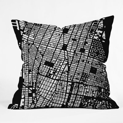 DENY Designs CityFabric Inc NYC Indoor/Outdoor Polyester Throw Pillow