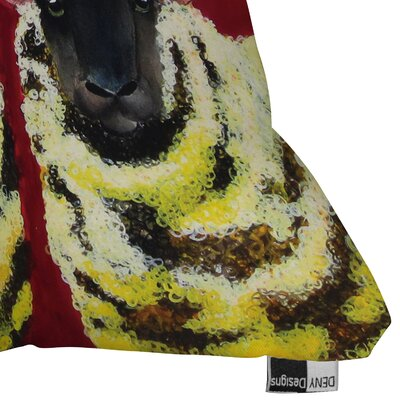 DENY Designs Clara Nilles Spongecake Sheep Woven Polyester Throw Pillow