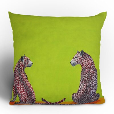 DENY Designs Clara Nilles Leopard Lovers Woven Polyester Throw Pillow