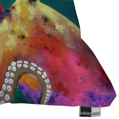 DENY Designs Clara Nilles Mardi Gras Octopus Indoor / Outdoor Polyester Throw Pillow