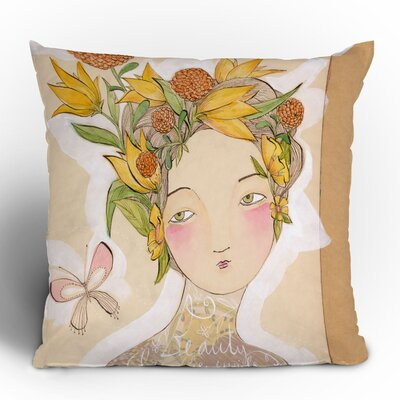 DENY Designs Cori Dantini Beauty on The Inside Woven Polyester Throw Pillow