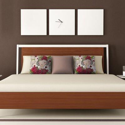 DENY Designs Cori Dantini Dear Sweet Girl Woven Polyester Throw Pillow