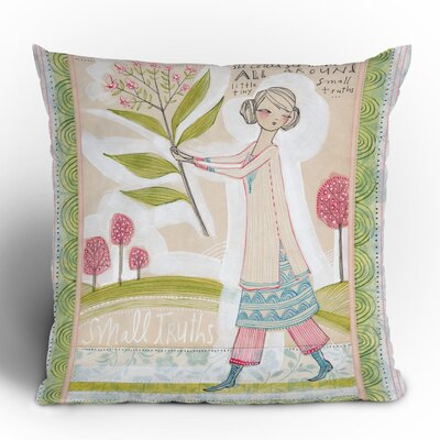 DENY Designs Cori Dantini Small Truths Woven Polyester Throw Pillow
