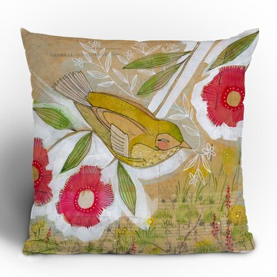 DENY Designs Cori Dantini Sweet Meadow Bird Woven Polyester Throw Pillow