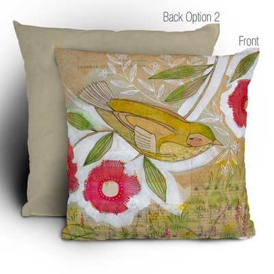 Cori Dantini Sweet Meadow Bird Woven Polyester Throw Pillow