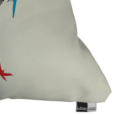 DENY Designs Iveta Abolina Bluebird Indoor / Outdoor Polyester Throw Pillow