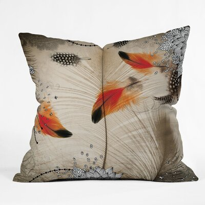 DENY Designs Iveta Abolina Feather Dance Indoor / Outdoor Polyester Throw Pillow