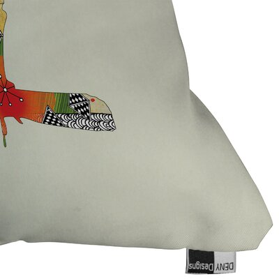 DENY Designs Iveta Abolina Little Bird Woven Polyester Throw Pillow