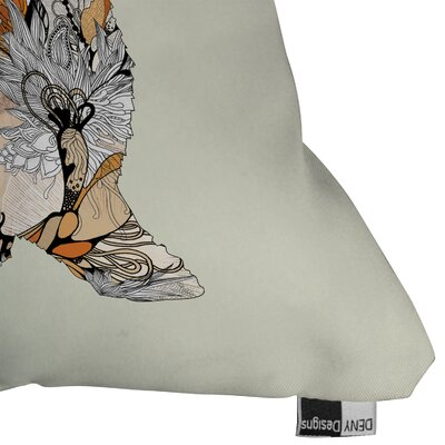 DENY Designs Iveta Abolina Little Rabbit Indoor / Outdoor Polyester Throw Pillow