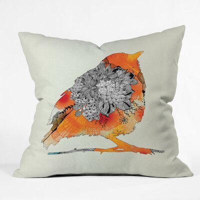 DENY Designs Iveta Abolina Bird Indoor / Outdoor Polyester Throw Pillow