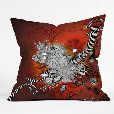 DENY Designs Iveta Abolina Wild Lilly Indoor / Outdoor Polyester Throw Pillow