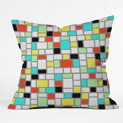 Jacqueline Maldonado Geo Square Indoor / Outdoor Polyester Throw Pillow