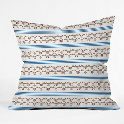 DENY Designs Jennifer Denty Anchor Small Indoor / Outdoor Polyester Throw Pillow