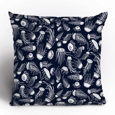 DENY Designs Jennifer Denty Jellyfish Polyester Throw Pillow