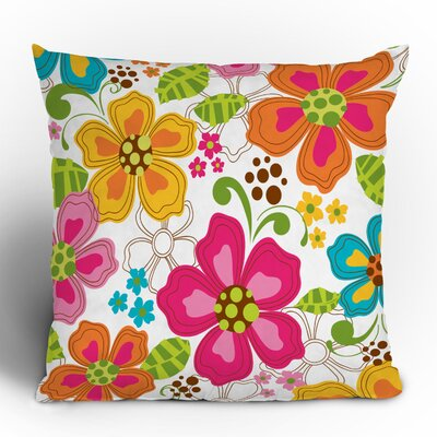 DENY Designs Khristian A Howell Kaui Blooms Woven Polyester Throw Pillow
