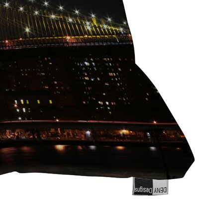 DENY Designs Leonidas Oxby Brooklyn Bridge 2 Woven Polyester Throw Pillow