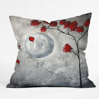 DENY Designs Madart Inc Far Side Of The Moon Indoor / Outdoor Polyester Throw Pillow ...