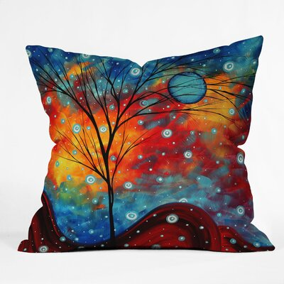 Madart Inc Summer Snow Indoor / Outdoor Polyester Throw Pillow