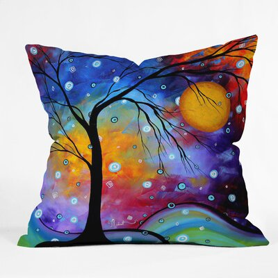 DENY Designs Madart Inc  Winter Sparkle Indoor / Outdoor Polyester Throw Pillow