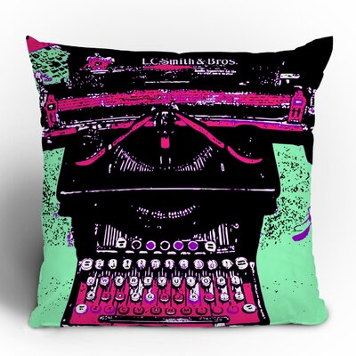 DENY Designs Romi Vega Antique Typewriter Polyester Throw Pillow