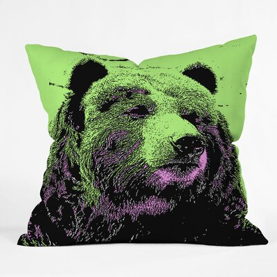 DENY Designs Romi Vega Polyester Bear Indoor / Outdoor Throw Pillow