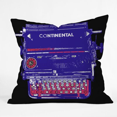 DENY Designs Romi Vega Continental Typewriter Polyester Throw Pillow