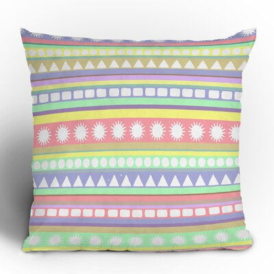 DENY Designs Romi Vega Pastel Pattern Polyester Throw Pillow