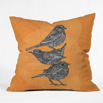 Valentina Ramos 3 Little Birds Indoor/Outdoor Polyester Throw Pillow