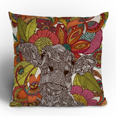 DENY Designs Valentina Ramos Arabella and The Flowers Polyester Throw Pillow