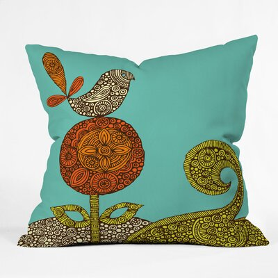 DENY Designs Valentina Ramos Polyester Bird In The Flower Indoor/Outdoor Throw Pillow