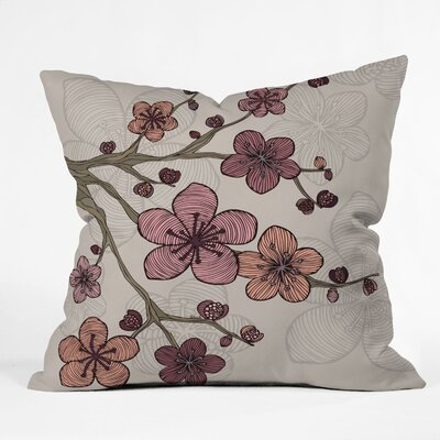 DENY Designs Valentina Ramos Blossom Indoor/Outdoor Polyester Throw Pillow