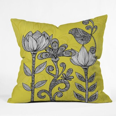 DENY Designs Valentina Ramos Green Garden Indoor/Outdoor Polyester Throw Pillow