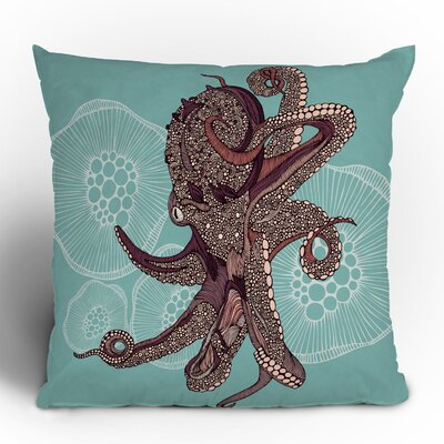DENY Designs Valentina Ramos Octopus Bloom Polyester Throw Pillow