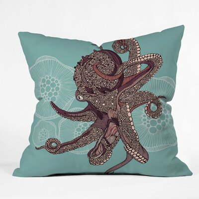 DENY Designs Valentina Ramos Octopus Bloom Indoor/Outdoor Polyester Throw Pillow