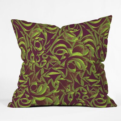 DENY Designs Wagner Campelo Abstract Garden Indoor/Outdoor Polyester Throw Pillow