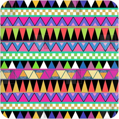 DENY Designs Bianca Green Zigzag Wall Art