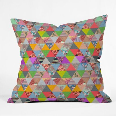 DENY Designs Bianca Green Lost in Pyramid Indoor/Outdoor Polyester Throw Pillow
