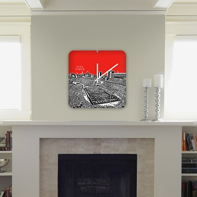 DENY Designs Bird Ave Ohio State Buckeyes Custom Clock
