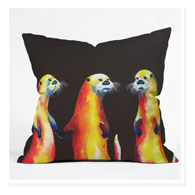 DENY Designs Clara Nilles Flaming Otters Throw Pillow