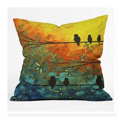 DENY Designs Madart Inc. Birds Of A Feather Throw Pillow