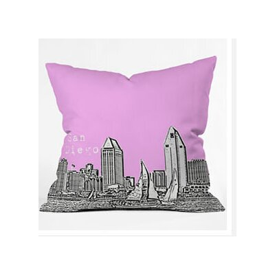 DENY Designs Bird Ave San Diego Woven Polyester Throw Pillow