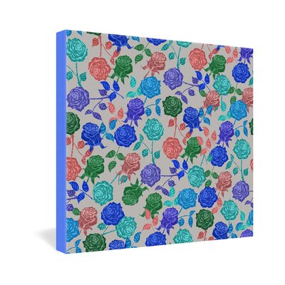DENY Designs Bianca Green Roses Gallery Wrapped Canvas