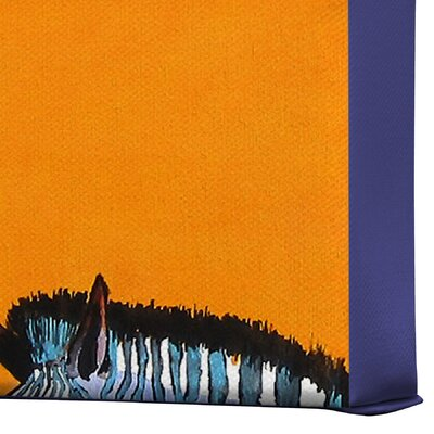 DENY Designs Candy Stripe Zebras by Clara Nilles Painting Print on Canvas