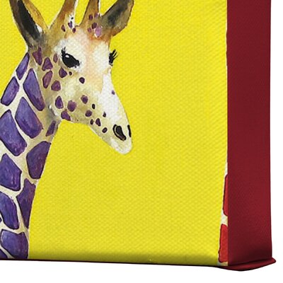DENY Designs Jellybean Giraffes by Clara Nilles Painting Print on Canvas