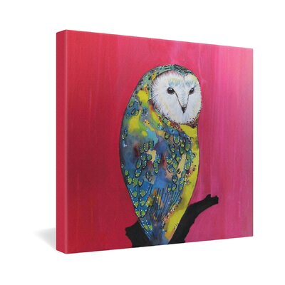 DENY Designs Owl on Lipstick by Clara Nilles Painting Print on Canvas