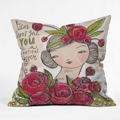 DENY Designs Cori Dantini Dear Sweet Girl Indoor / Outdoor Polyester Throw Pillow