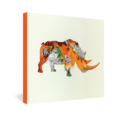 DENY Designs Iveta Abolina Rhino by Iveta Abolina Graphic Art on Canvas