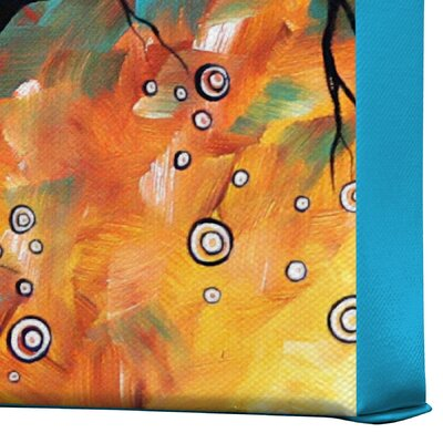 DENY Designs Aqua Burn by Madart Inc Graphic Art on Canvas