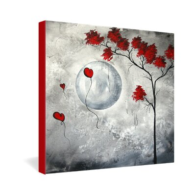 DENY Designs Far Side of the Moon by Madart Inc Graphic Art on Canvas
